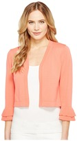 Calvin Klein Open Shrug with Ruffle Sleeve Women's Sweater