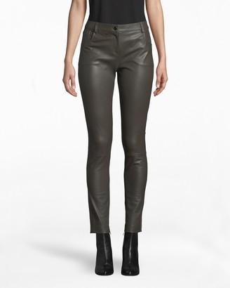 Nicole Miller Leather Combo Jean
