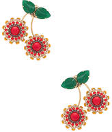 Anton Heunis Cherry Earring in Metallic Gold.