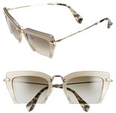 Miu Miu Women's 'Noir' 54Mm Cat Eye Sunglasses - Light Grey