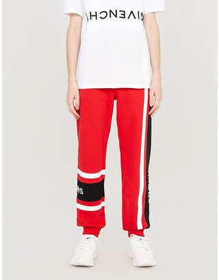 Givenchy Logo-embroidered cotton-jersey jogging bottoms