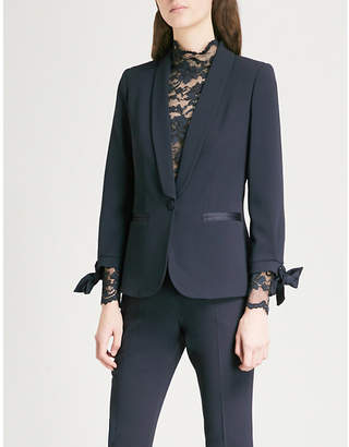 Claudie Pierlot Single-breasted crepe tuxedo jacket