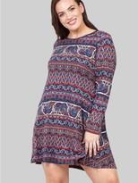 M&Co Izabel Curve elephant print swing dress