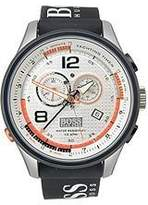 HUGO BOSS Regatta Silver Dial Black Rubber Mens Watch 1512501