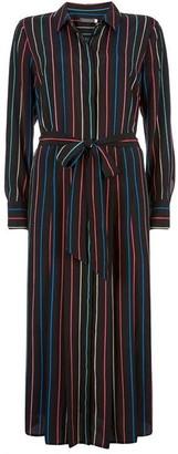Mint Velvet Black Striped Shirt Dress