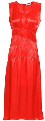 Helmut Lang Ruched Satin Midi Dress