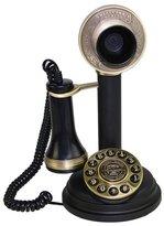 LNCHome Retro Candlestick Push Button Dial Single Line Desk Telephone