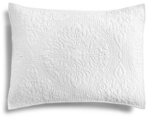 Martha Stewart Collection Quilted Medallion Standard Sham, Created for Macy's