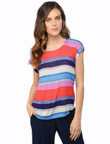 Splendid Watercolor Stripe Short Sleeve Top