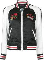 GUILD PRIME embroidered detail bomber jacket