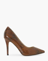 White House Black Market Olivia Leather Exotic-Print Pumps
