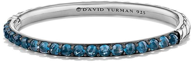 David Yurman Osetra Bangle Bracelet with Hampton Blue Topaz