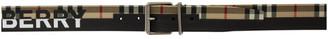 Burberry Black Logo Print Belt