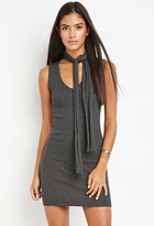 Forever 21 Contemporary Self-Tie Collar Ribbed Dress