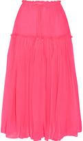 Apiece Apart Dulce Pleated Silk-crepon Midi Skirt