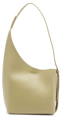 Aesther Ekme Demi Lune Leather Bucket Bag - Green