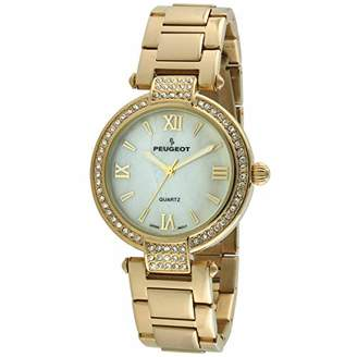Peugeot Women's Mother of Pearl Quartz Watch with Alloy Strap