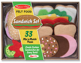 Melissa & Doug 33-Piece Felt Food Sandwich Set