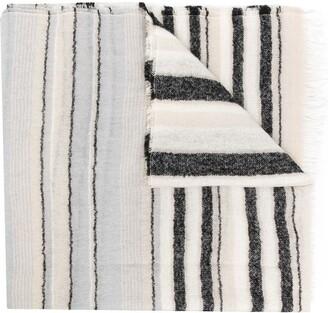 D'aniello Striped Wool-Blend Scarf