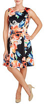 Peter Nygard Printed Fit-and-Flare Sleeveless Dress