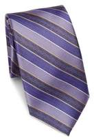 Saks Fifth Avenue COLLECTION Diagonal Striped Textured Silk Tie