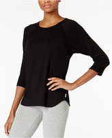 DKNY Textured Knit Pajama Top