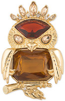 Carolee Gold-Tone Stone Owl Pin