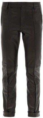Golden Goose Agathe Leather Straight-leg Trousers - Black