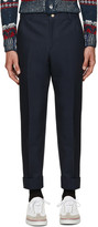 Thom Browne Navy Unconstructed Chino Trousers