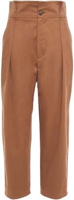 Brunello Cucinelli Cropped Cotton-twill Straight-leg Pants