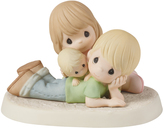 Precious Moments Couple With Baby Figurine