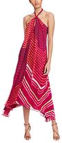 Polo Ralph Lauren Shibori-Dyed Silk Halter Dress, Aruba Pink Multi