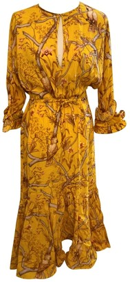 H&M Johanna Ortiz X Yellow Viscose Dresses