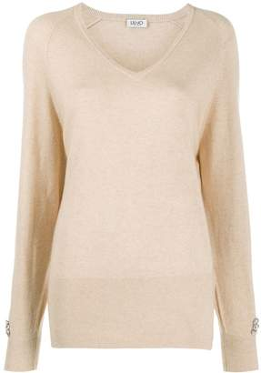 Liu Jo long-sleeve fitted jumper