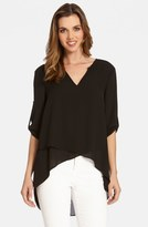 Karen Kane Women's Asymmetrical Wrap Hem Top