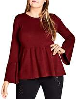 City Chic Bell-Sleeve Sweater