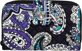 Vera Bradley Signature Iconic RFID Turnlock Wallet