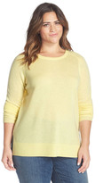 Halogen Cashmere Crewneck Sweater (Plus Size)