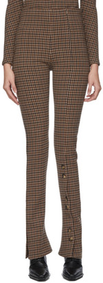 A.W.A.K.E. Mode Beige and Brown Gingham Kioto Rave Trousers