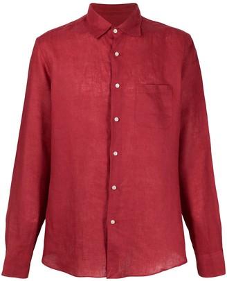 Peninsula Swimwear Single-Pocket linen shirt
