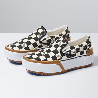 Vans Checkerboard Slip-On Stacked