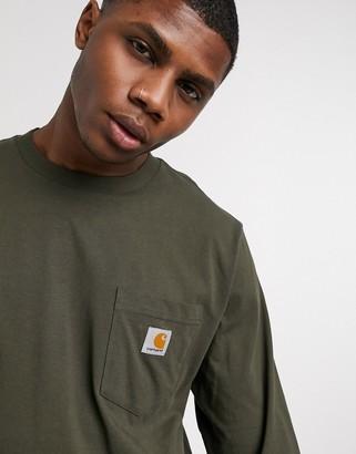 Carhartt WIP pocket long sleeve top in khaki