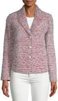 St. John Women's Textured Wool-Blend Button Front Tweed Jacket