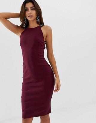 Vesper high neck bodycon dress