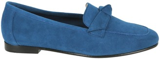 Alexandre Birman Becky Bow-Detail Suede Loafers