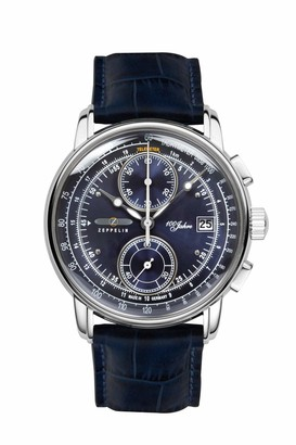 Zeppelin Men's Chronograph Quartz Watch with Leather Strap 86703