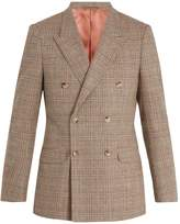 Gucci Double-breasted checked wool-blend blazer