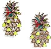 BaubleBar Pineapple Pop Large Stone Stud Earrings