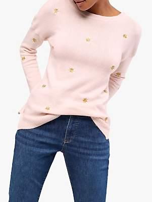 White Stuff Star Gazer Jumper, Pink