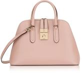 Furla Moonstone Milano Medium Leather Handle Bag